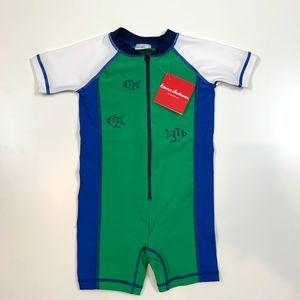 Hanna Andersson Green Rashguard Swimsuit 85 2T NWT